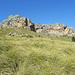 Blick hoch zur Roca Roja