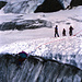 Grundkurs Eis / Spaltenbergung mit der DAV Sektion Greiz/Sitz in Marktredwitz in alpiner Umgebung. Die Gletscherzungen des Rettenbachferners (oben) erreichten damals noch den Karlesferner.