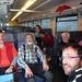 in treno con Luzzi e co.