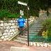 Hier beginnt der Chemin des Salines welcher hinauf zum höchsten Punkt von Monaco führt.