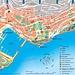 Karte vom Fürstentum Monaco mit eingezeichnetem Landeshöhepunkt.