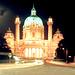 Karlskirche, Wien bei Nacht