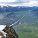 Blick vom Gonzen in das Rheintal