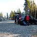 Parcheggio alla fine della strada a Q1380