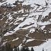 Südhang oberhalb von Dörfje - der Skiaufstieg über den Weg noch möglich