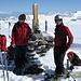 Auf dem Gipfel des Glatten 2505m isch es glatt