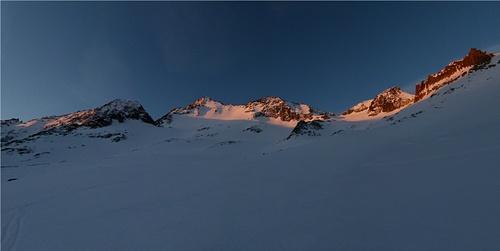 Morgenpanorama im Aufstieg zum Piz Giuv - einfach herrlich!