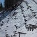 Schnee kurz vor dem Gipfel des Gonzen