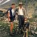 Am Scalettapass 2.611 m<br />Unser blinder Bekannter mit Sohn