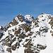 Die Gipfel in der Kette westlich des Piz Cunfin
