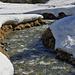 Schmelzwasser im Val da Camp-Bach