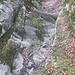 Das typische Gelände in Les Golons, ein ausgewaschenes Bachbett, in dem man fast überall hoch kommt