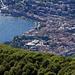 Auf dem letzten Zahn (südwestlich des Sasso Grande) sieht man nun den grössten Teil Luganos