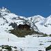 Berggasthaus Flue mit Strahl- und Rimpfischhorn