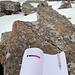 Obligater Gipfelbucheintrag mit Kleber...