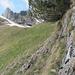 Alp Bogarten vom Ende/Beginn Jägersteig mit dem Ring und Lumpen rechts