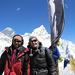 auf dem Gipfel des Kalar Patthar, im Hintergrund links der Mount Everest, davor die Westschulter, rechts der Nuptse, dahinter kaum sichtbar der Lotse