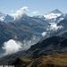 Les hauts sommets entourant Zinal et le lac de Moiry