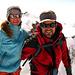 Auf dem höchsten Punkt der Schweiz, der Dufourspitze 4634m. (Zwischen uns, im Hintergrund, sieht man noch klein das Rifugio Margherita auf der Signalkuppe).