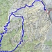 In blu il tracciato percorso