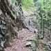 Sentiero nel tratto tra ponte Alpe Ripiano e Cher.....pericolo caduta massi!!