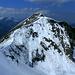 Auf dem Vorgipfel der Güntlespitze - Blick zurück zur Üntschenspitze