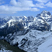 Ein letzter Blick in die Allgäuer Alpen (schon wieder am Vorgipfel der Güntlespitze)