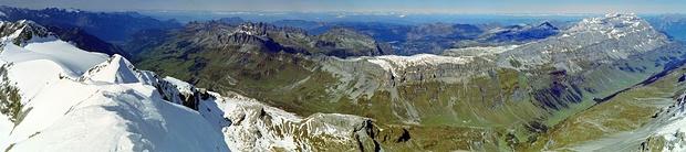 Panorama Clariden nach Norden Richtung Mittelland.