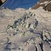 Tiefflug über den Gletscher