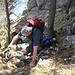 Kurze Kletterpassage           [http://www.matthias.hikr.org Home]
