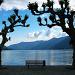 Abendstimmung in Ascona. Jetzt nützt uns der blaue Himmel auch nichts mehr :-P