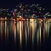 Feuerwerk der Lichtspiegelung im Lago di Lugano II