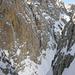 Blick aus der Scharte Richtung Plattkofel-Gipfel