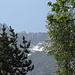 la cresta e la valle percorsa vista dal bosco
