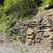 Abstiegsvariante - unmittelbar beim i-Punkt des Schriftzuges Riemenstaldner Tal