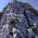 Das erste etwas steilere Kletterstück (II)