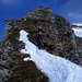 Abstieg auf dem Mini-Biancograt am Girenspitz