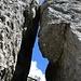 Der Blick zum Himmel zwischen Petite Arrête und Roche du Piton