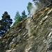 Die Felsen werden von losem Gestein gesäubert