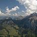Blick über Wätterlatte, Morgenberghorn und Dreispitz