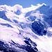 Piz Zebu, Piz Bernina u. Isola Pers vom Mont Pers