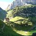 Berggasthaus Bollenwees, im Hintergrund Saxer Lücke