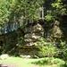 Kletterfelsen in einem ehemaligen Steinbruch im Gleißental