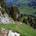 Paralleler Aufstieg zu dem markanten langen Felsband. Blick zurück...