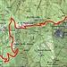 Ungefähre Route Cima di Sassello