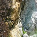 Am Nollenbrünneli steckt das Routenbuch in dieser Felsspalte (rechts unten)