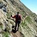 Il sentiero che ritorna dalla bocchetta Bassa di Canariscetto.  [u brown]