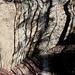 Wasserfall, Nagelfluh und Schatten im Abendlicht