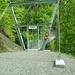 Die neue Hängebrücke über den Underweidligraben