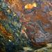 Feuerwerk der Farben im Bergwerk der Gletschergrube